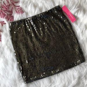 🌚 Charcoal Sequin Bodycon Skirt